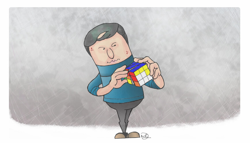 Rubik graphic drawn by Martin Richardson - Matrix Development (Human Resources) Ltd