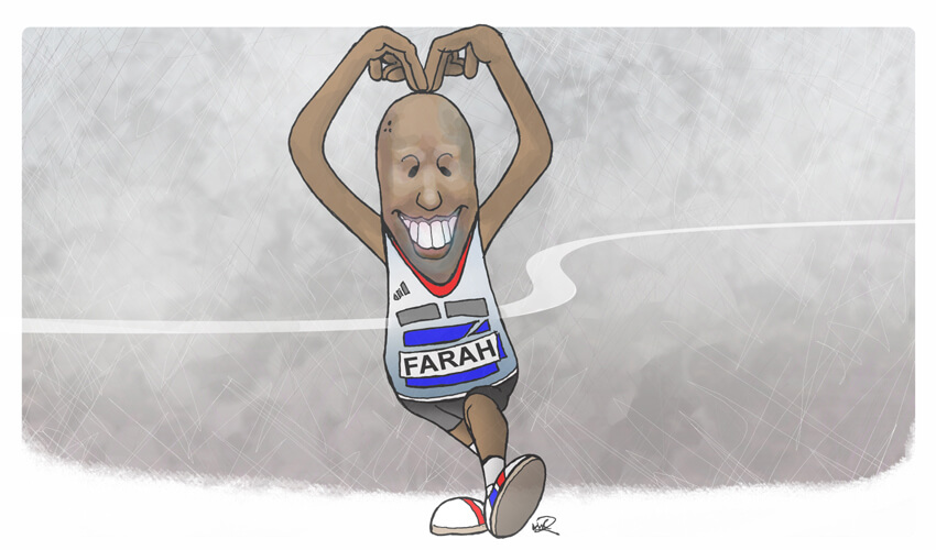 Mo Farah - drawn by ARTMART