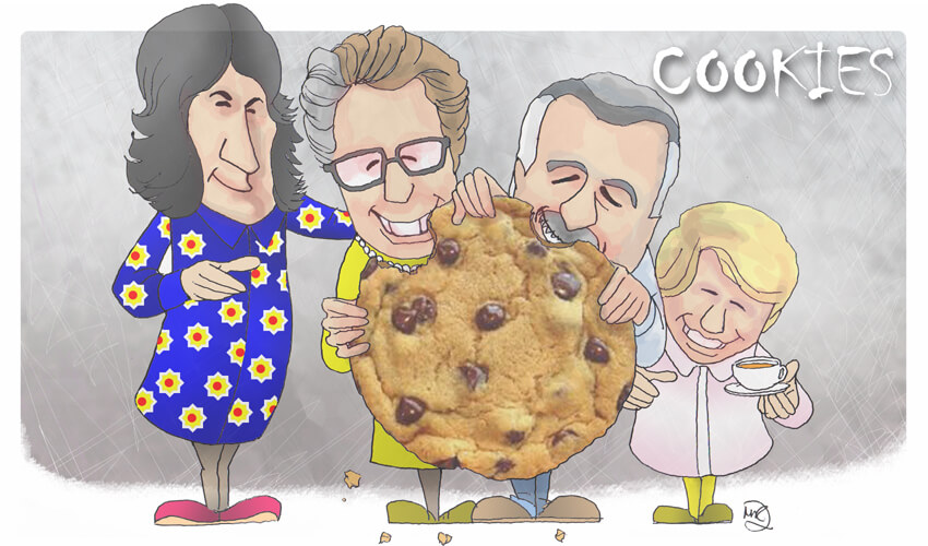 Cookie policy for Matrix Development (Human Resources) Ltd. Drawn by Martin Richardson.