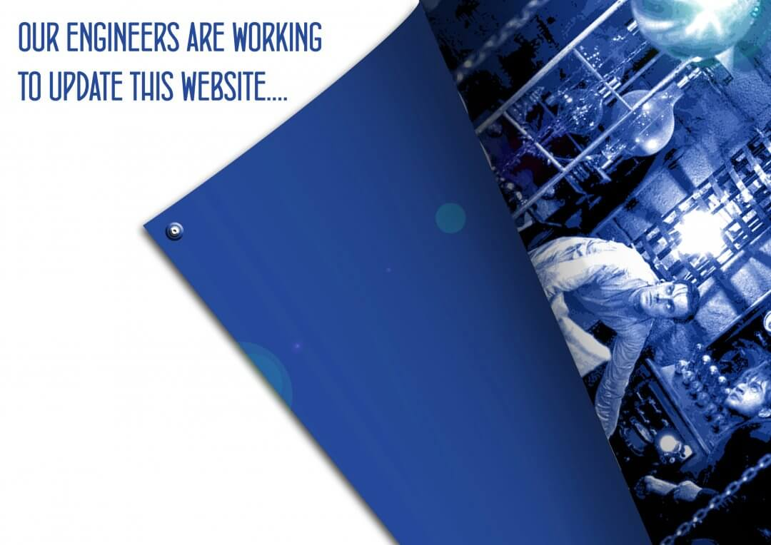 Website undergoing maintenance graphic