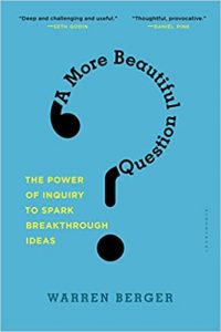 Book cover - A more beautiful question